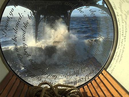Porthole window at Clevedon Pier