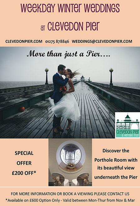 Clevedon Pier Winter Weddings