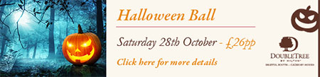 Halloween Ball at Double Tree by Hilton Cadbury House