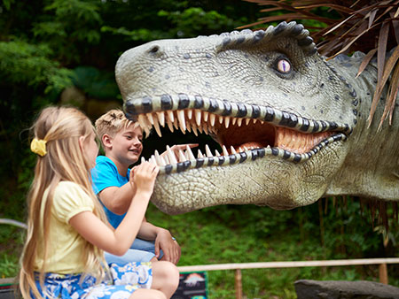 Animatronic Dinosaurs have landed in Dinosaur Valley at Wookey Hole