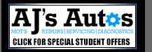 AJS Autos Student Offers